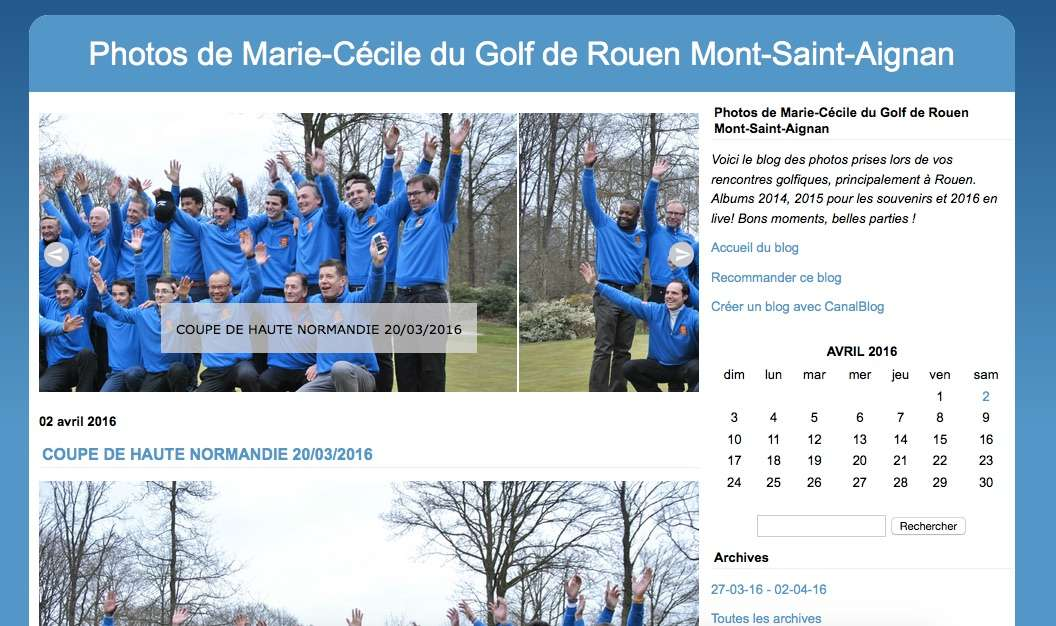 BLOG PHOTO : la version 2 est en ligne « Golf de Rouen Mont-Saint-Aignan
